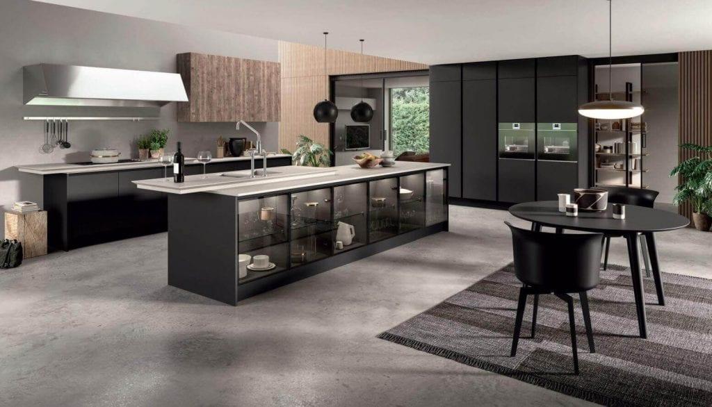 Современная черная кухня